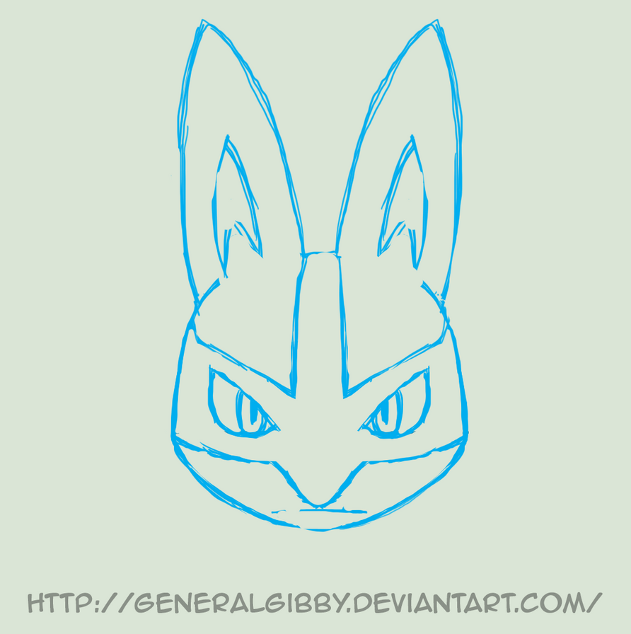 Animated-Lucario Head Roll by GeneralGibby