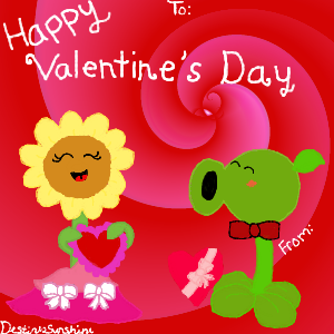 PVZ Valentine's Card Swap Event by Destinysunshine