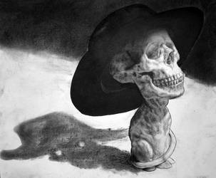 Skull-Cat In the Hat by Adam-Scott-Miller