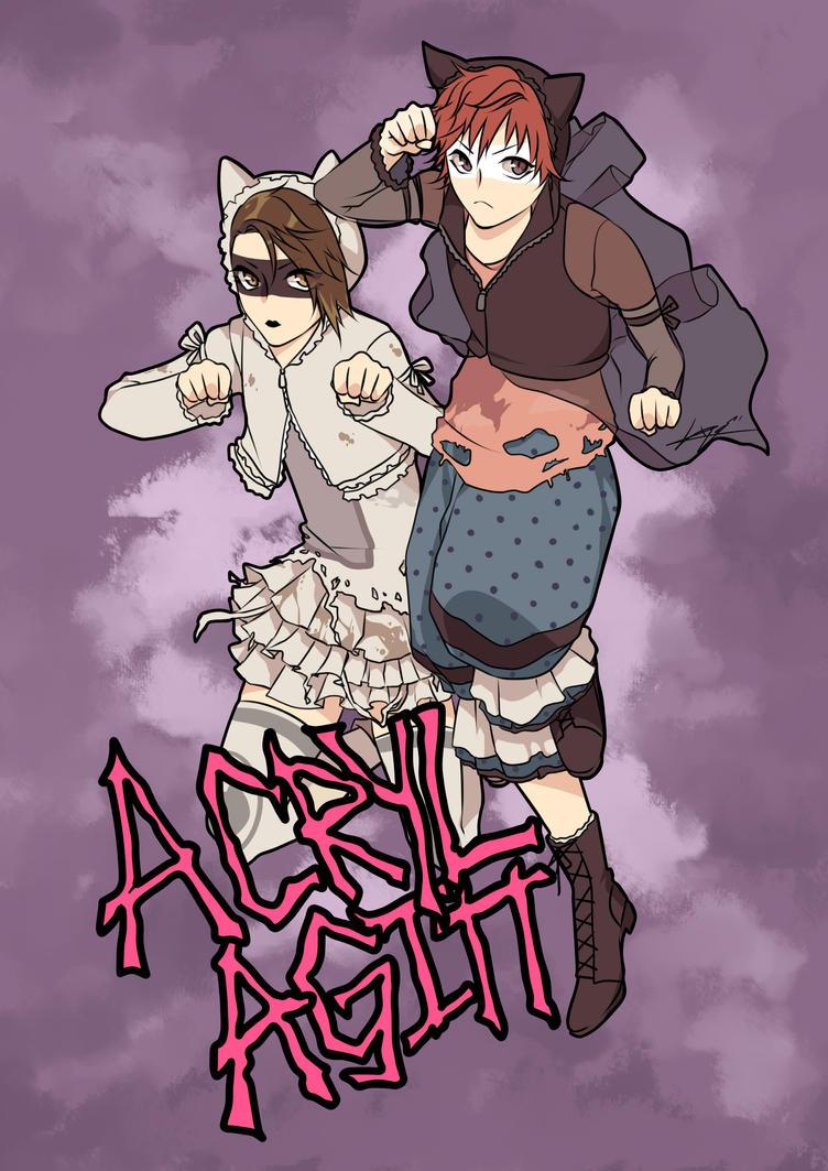 Acryl Agitt Cat Duo by Lilbang