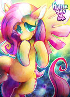 Fluttershy Commission Print by pengosolvent