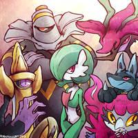 main pokemon xy team by pengosolvent