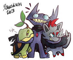 pokemon trio for dragoonvulpi by pengosolvent