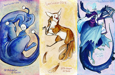 Watercolor art trades 1 by pengosolvent