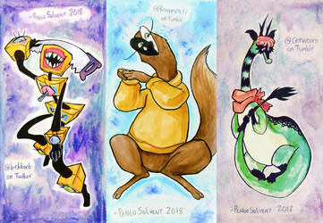 Watercolor art trades 2 by pengosolvent