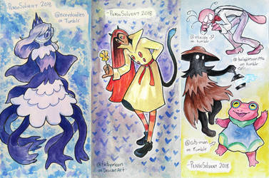 Watercolor art trades 3 by pengosolvent