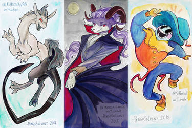 Watercolor art trades 4 by pengosolvent