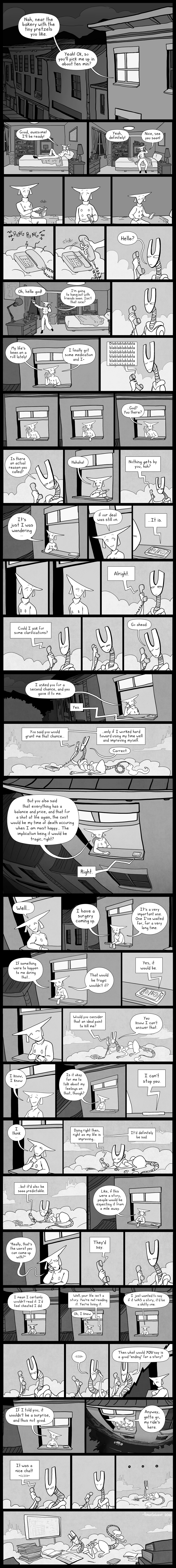 Phone Conversation Comic by pengosolvent