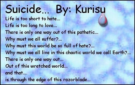 Suicide... by Kurisudischordian