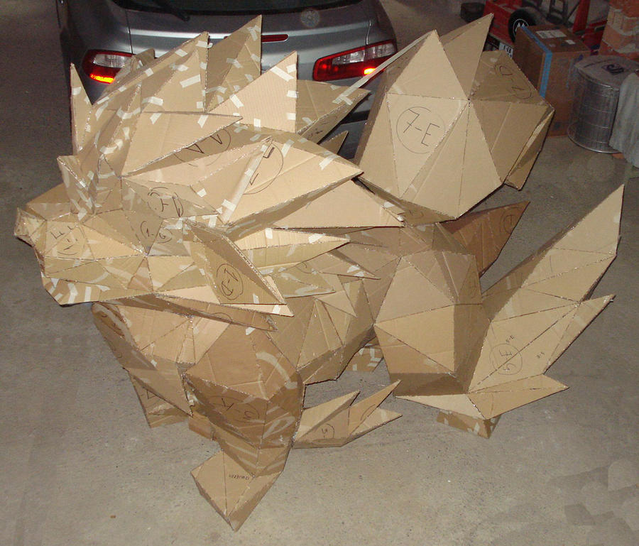 Arcanine Real Scale Papercraft by Raymon92
