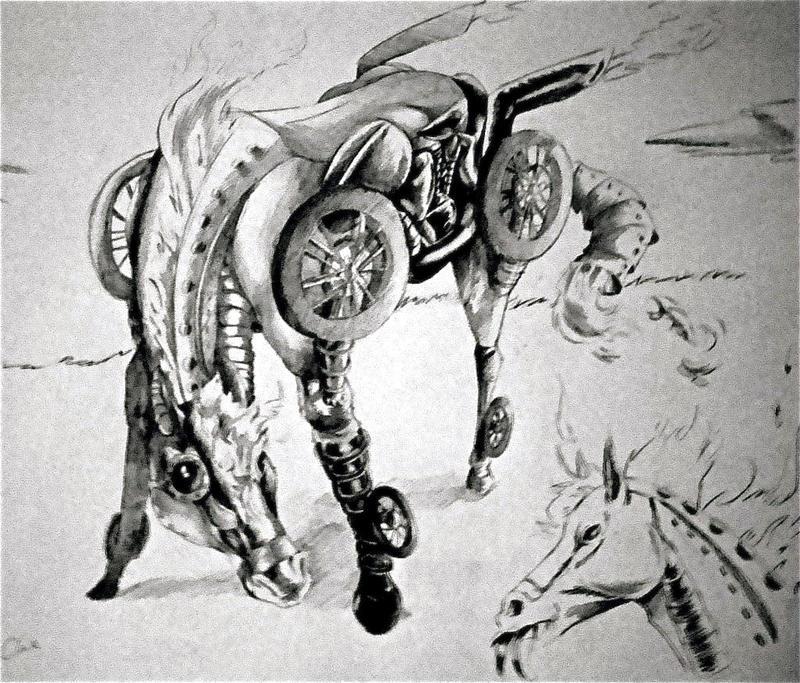 Classwork Steampunk Horse By Cabbion On DeviantArt