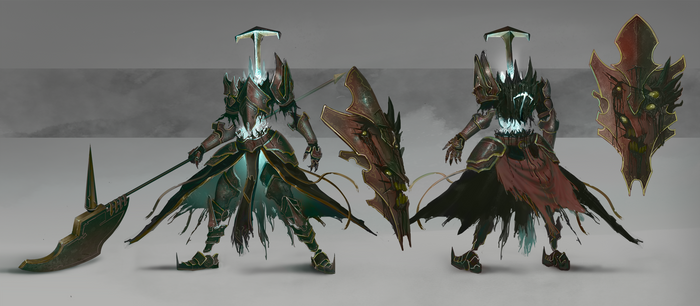 Ghost Knight Enemy Design