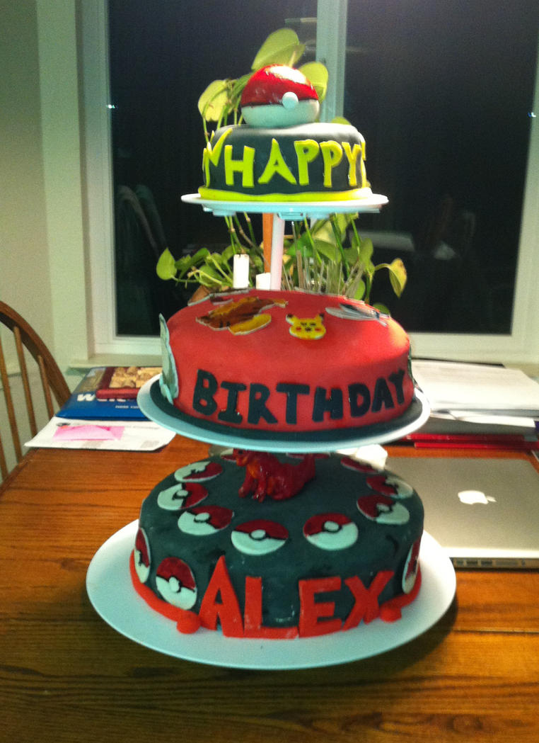 Pokemon Themed Happy Birthday Alex Cakes