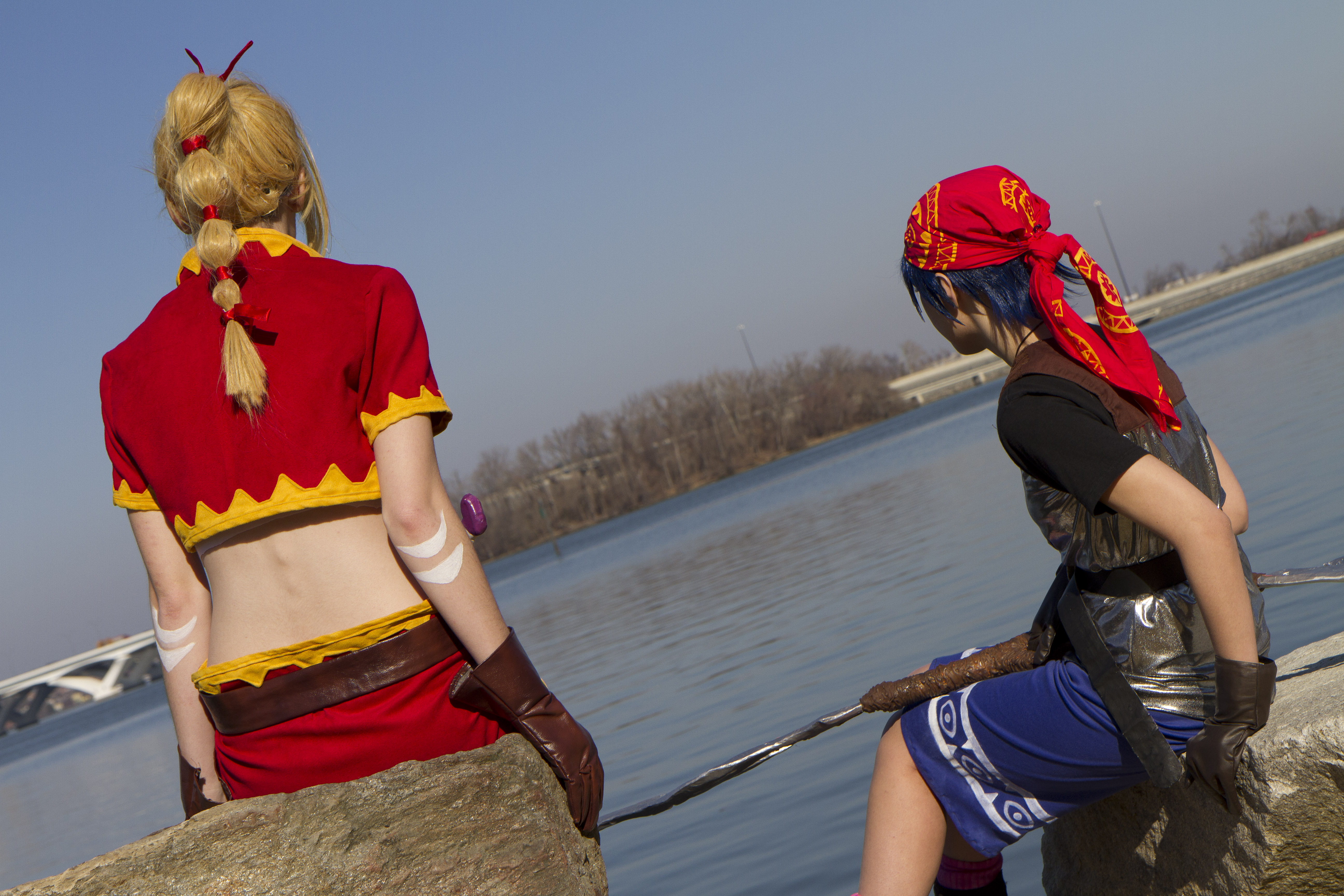 Chrono Cross - Kidd and Serge Photoshoot 6 by octomobiki