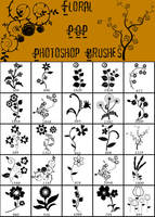 Floral Pop Photoshop Brushes by Karolina-Borkowski
