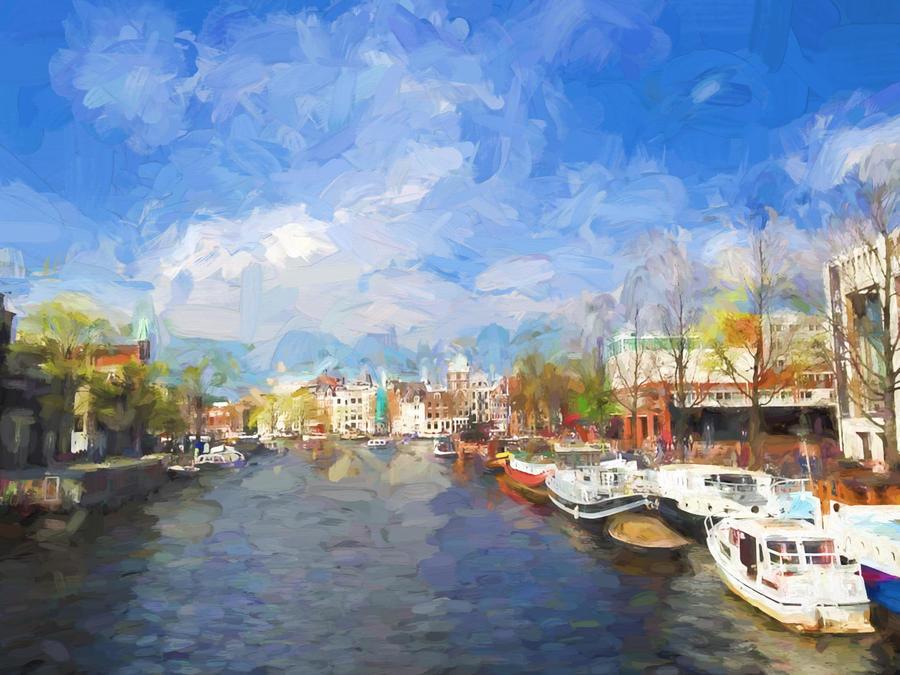 Along the Amstel River by OM--Shanti--OM