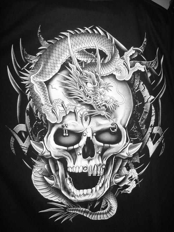 dragon skull black and white by leggyboy on deviantart