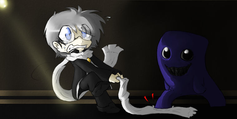 Ao Oni Scarf Troubles By Darkness The Fox555 On Deviantart