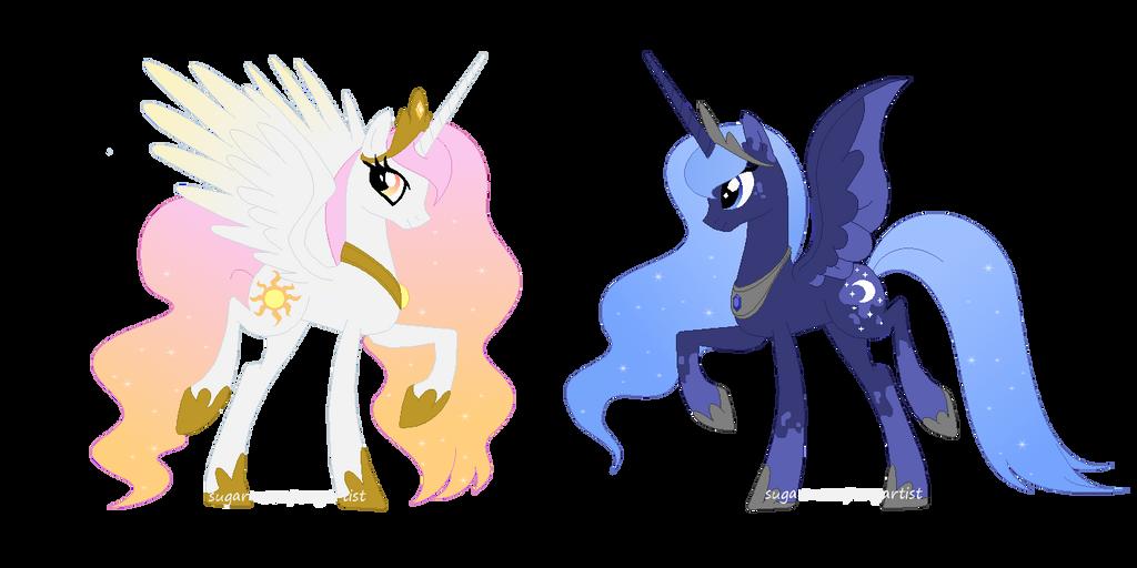 Princess Celestia And Princess Luna (my Style) By ...