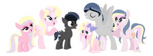 The Moon Family by SugarMoonPonyArtist