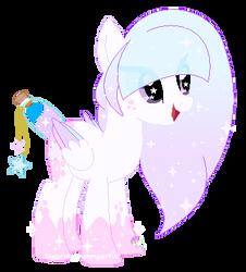 Dreamy Clouds Bottle wish pony oc by SugarMoonPonyArtist