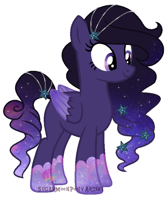 Cloud Pony Commission for Ocean-Night by SugarMoonPonyArtist