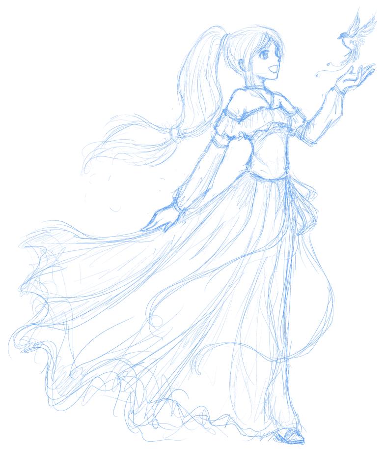 OC sketch - Alisha by z3lyn