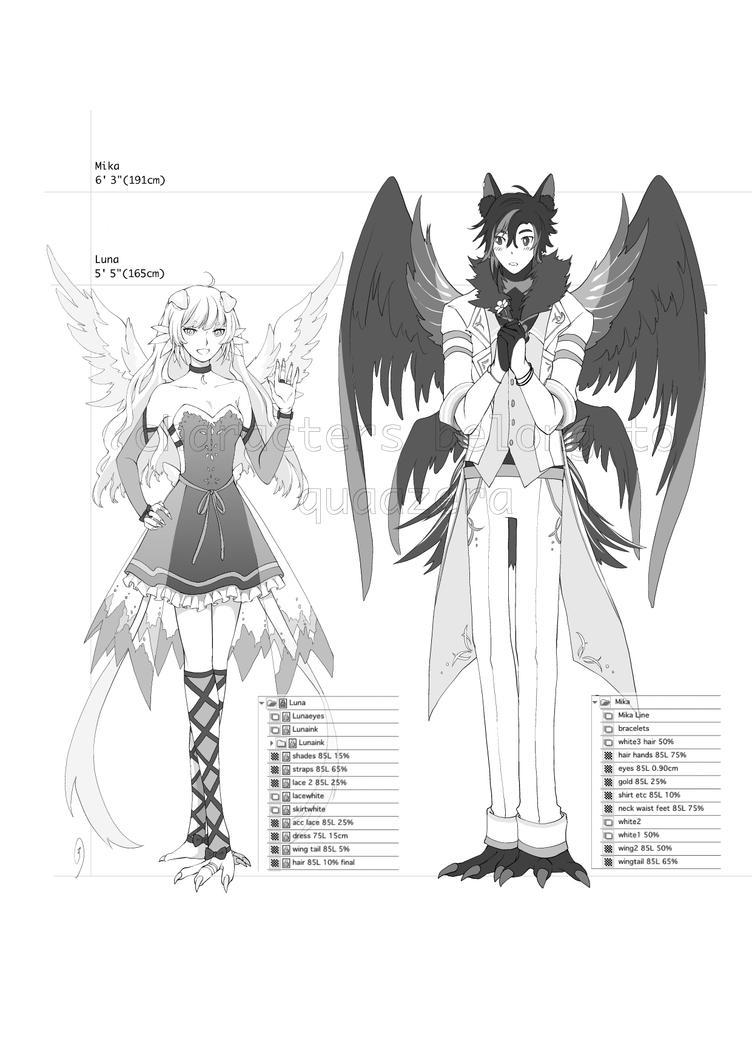 Manga Comm 1 - chara workup by z3lyn