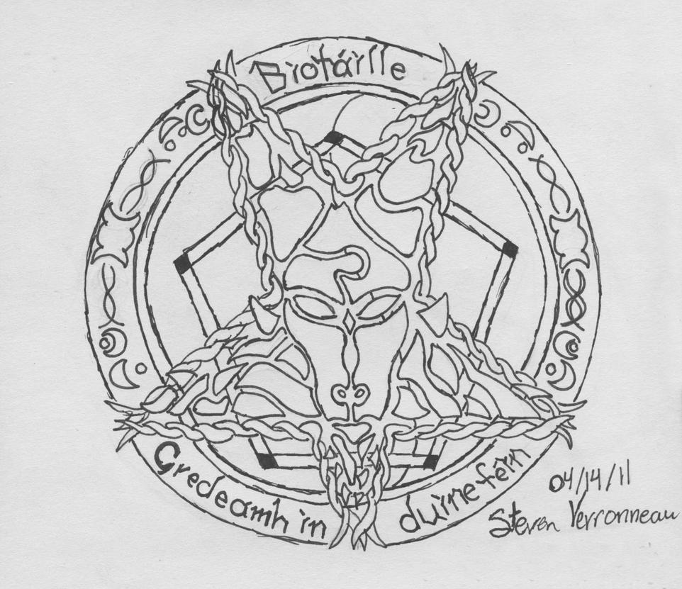 pentagram tattoo design by enthusedtattoist on deviantart. Black Bedroom Furniture Sets. Home Design Ideas