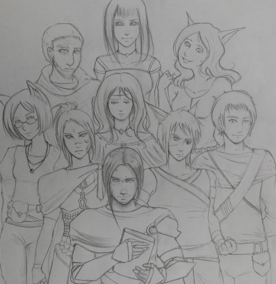 Asunder - Main Characters (WIP) by KyraShangea