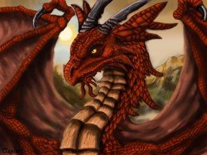 Nagy Kaszás fogadó (Valian külső peremén) - Page 2 Sunset_Dragon_by_eragonfanclub