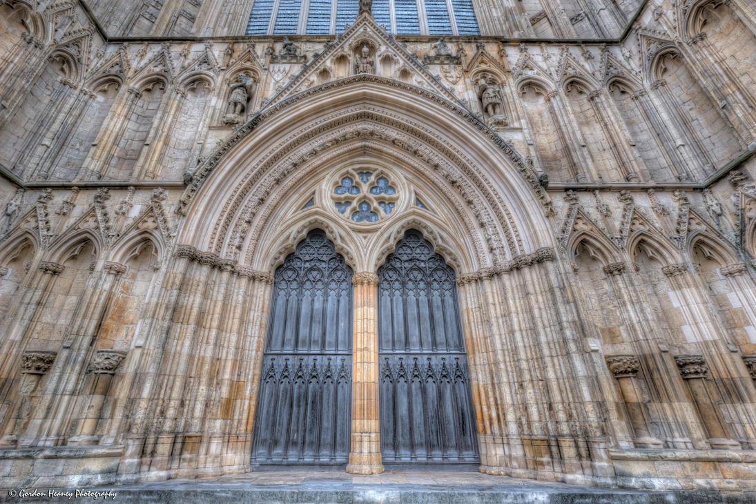 York minster 24 west facade oak doors by fatgordon0 for West window york minster