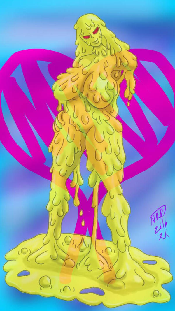 yellow slime girl by natanaelroman