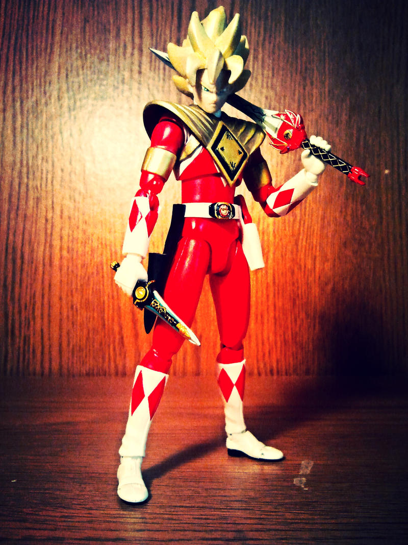ULTIMATEfiguart funnys - Armored Red Ranger Goku 2 by ULTIMATEbudokai3