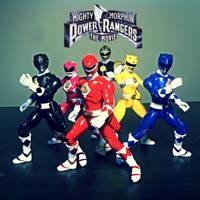 Mighty Morphin Power Rangers: The Movie figures by ULTIMATEbudokai3