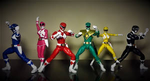 Power Rangers Legacy Collection - All 6 MMPR by ULTIMATEbudokai3