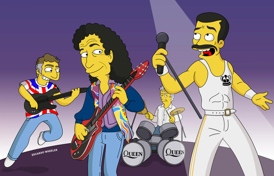 QUEEN - Simpsons Tribute.