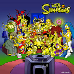 Simpsons Saint Seiya
