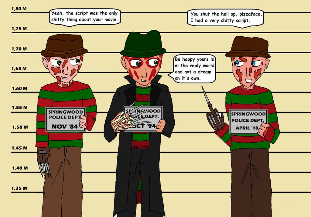 The Usual Suspect  Freddy Krueger by moniek-kuuperJeff The Killer Vs Freddy Krueger
