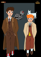 The Doctor and Tintin by moniek-kuuper