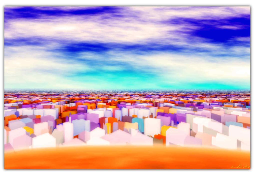 Cityscape-in-the-dessert by JensLundin