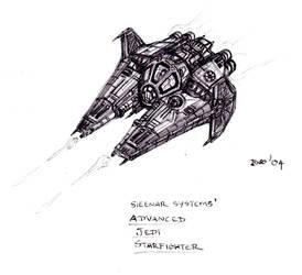 Advanced Jedi Starfighter by KronnangDunn