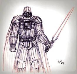 Darth Vader Fan Art by KronnangDunn