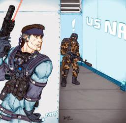 Metal Gear Solid 2 Fan Art by KronnangDunn