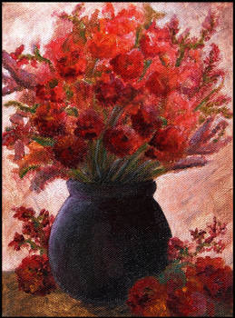 Bouquet of red flowers