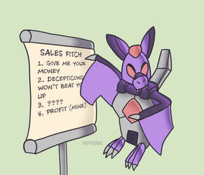 Gift Art - Rattrap Giving A Sales Pitch