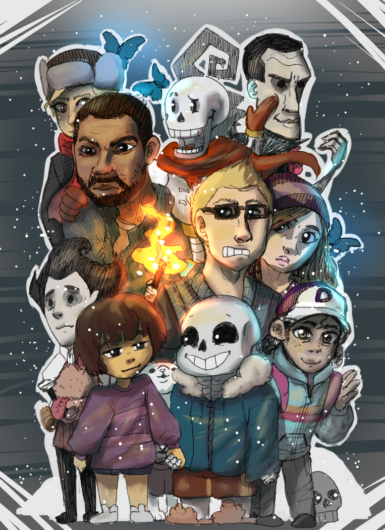 Undertale, walking dead, don't starve, until dawn by Gabbybites