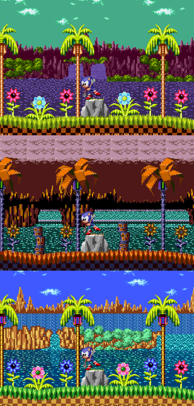 Green Hill Zone Past Bad And Good Future By Sapristi45
