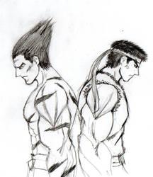 Ryu X Kazuya by ArkhangelOfDarkness