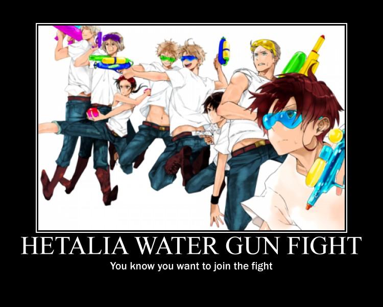APH Poster: Water gun fight by LOVlNO